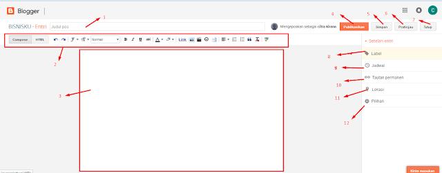 cara menulis blog pict, cara membuat blog pict, membuat website pict,