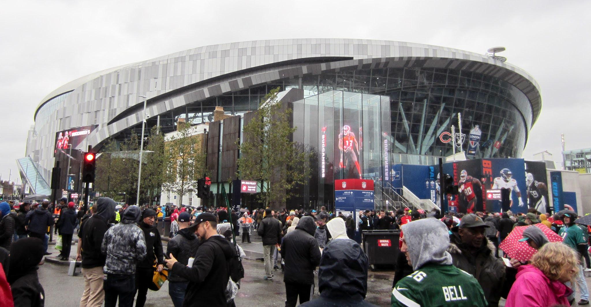 Tottenham Hotspur Stadium exterior for 2019 NFL London Games