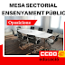 4 d'octubre: Mesa sectorial de l'ensenyament públic (Oposicions)