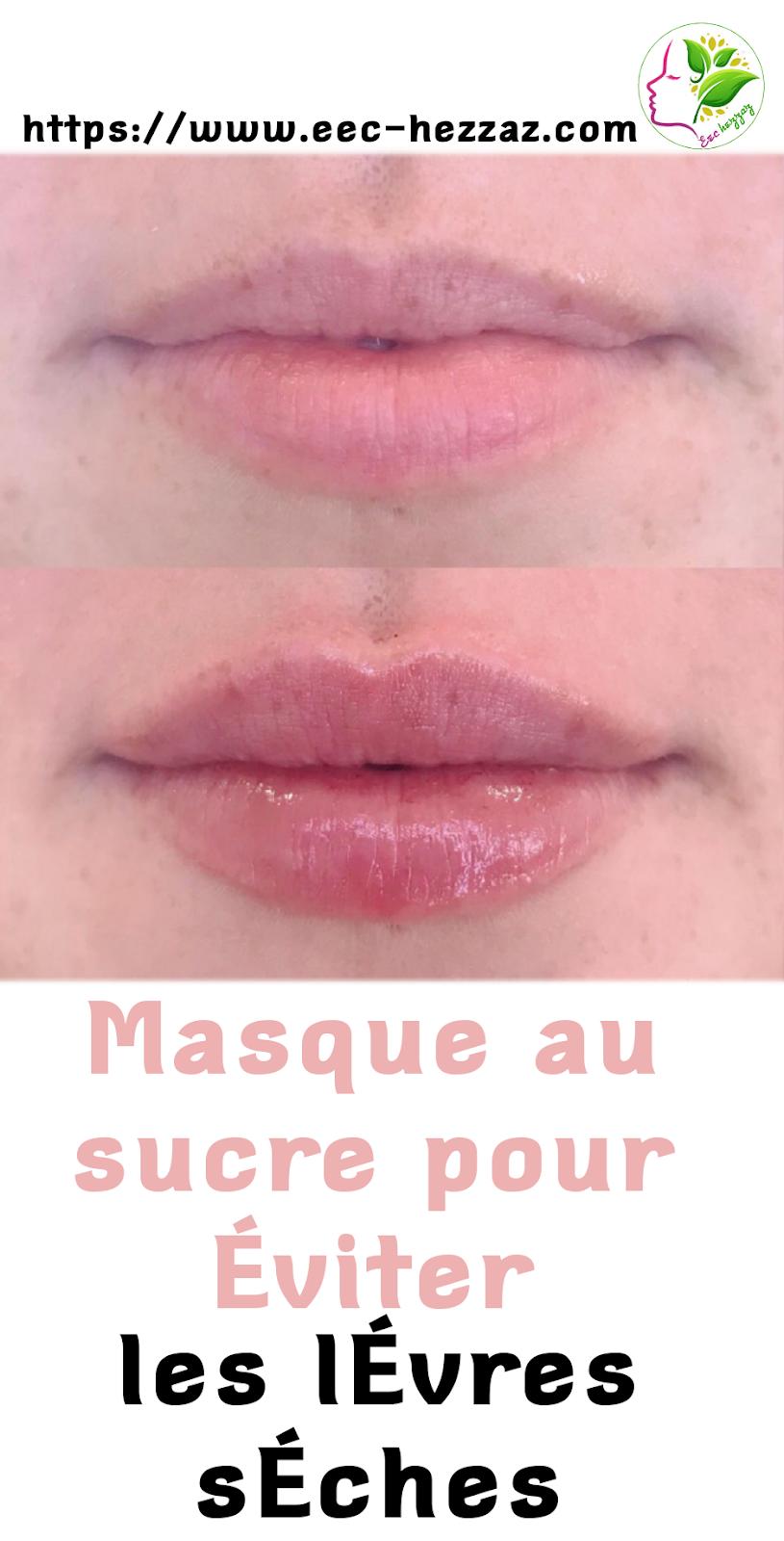 Masque au sucre pour éviter les lèvres sèches