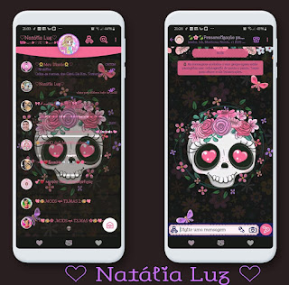 Skull & Flower Theme For YOWhatsApp & Aero WhatsApp By Natalia