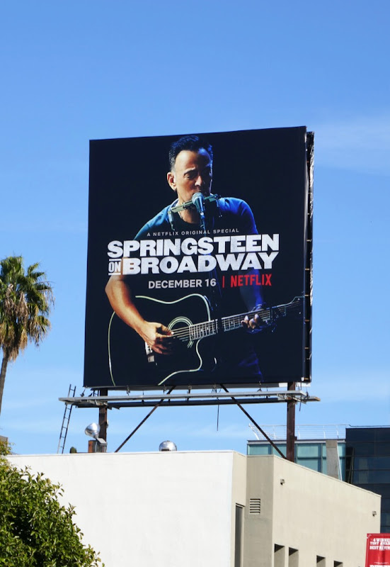 Springsteen on Broadway Netflix billboard