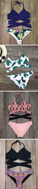 The tied-up bikini sets