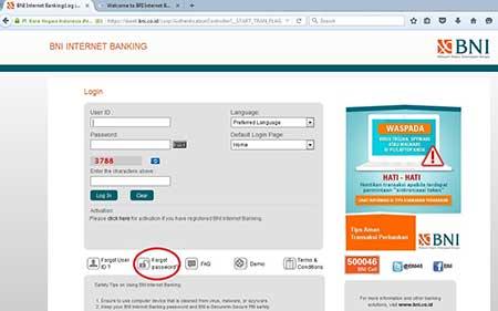 Lupa Kode Aktivasi m-Secure BNI Internet Banking