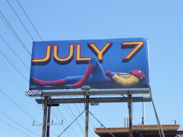 Spiderman Homecoming film billboard
