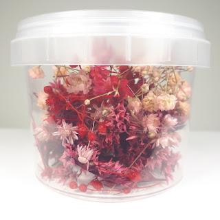 Bote flores rojas