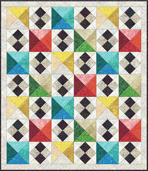 Staccato Quilt designed By Kaye England for Bear Creek Quilting Company featuring Wilmington Batiks