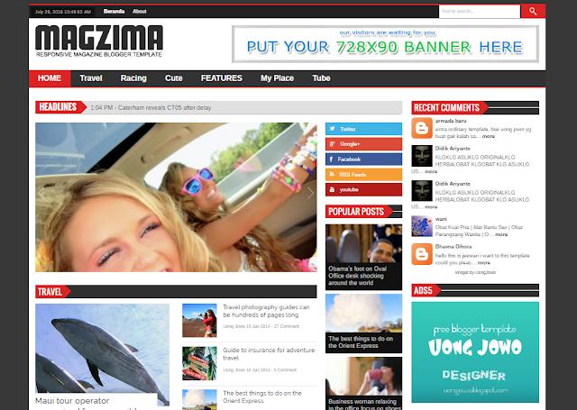 Magzima Blogger Template