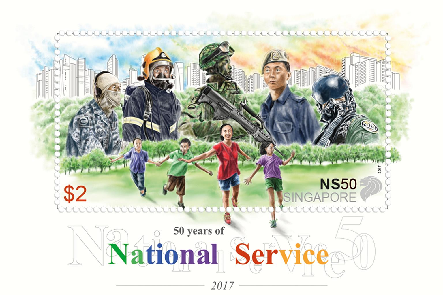 The NS50 stamp (mint) - $2 denominations