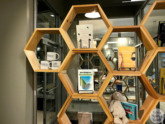 honeycomb shelving at Bookery