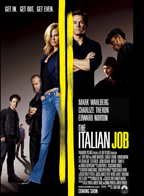 The Italian Job 2003 x264 720p Esub BluRay Dual Audio English Hindi Telugu Tamil THE GOPI SAHI