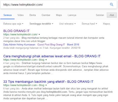 Cara agar blog baru cepat terindeks google
