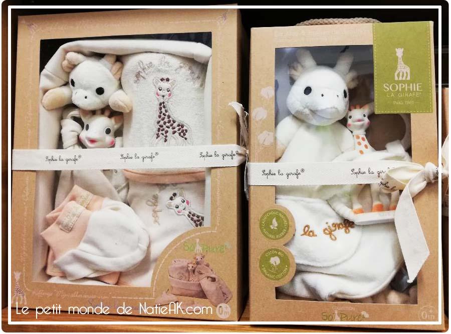 jouet bio fabriqué en France Sophie la girafe coffret so pure