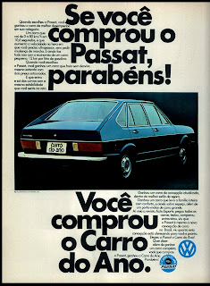 propaganda Volkswagen Passat - 1975. brazilian advertising cars in the 70. os anos 70. história da década de 70; Brazil in the 70s; propaganda carros anos 70; Oswaldo Hernandez;