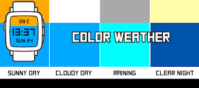 COLOR Weather - watchface para Pebble by dPunisher