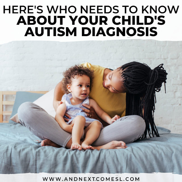 Telling family and friends your child has autism