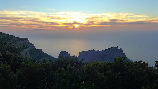 Abendstimmung auf La Gomera, Aussicht auf El Hierro