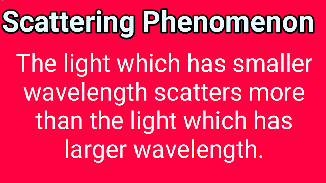 scattering phenomenon of light