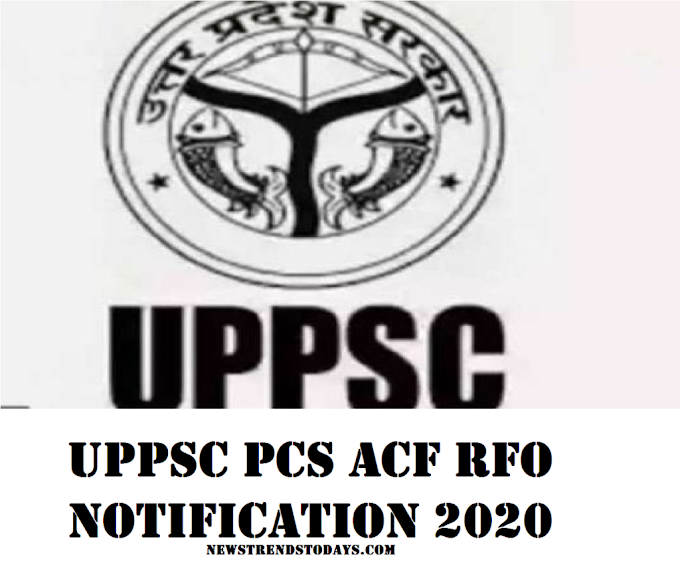 UPPSC PCS ACF RFO notification 2020 how to apply