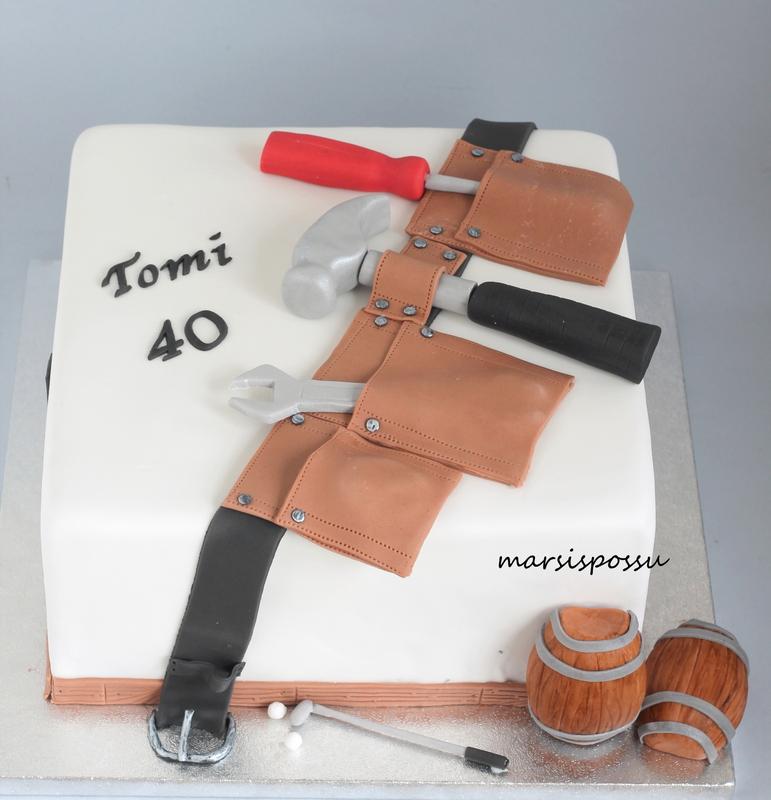 Kakku 40-vuotisynttäreille