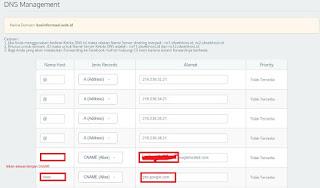 Pengaturan DNS domain id di idwebhost