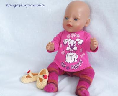 Ompele Baby Born nukelle vaatteet