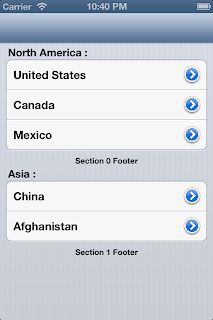 iOS Table View Example