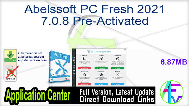 Abelssoft PC Fresh 2021 7.0.8 Pre-Activated