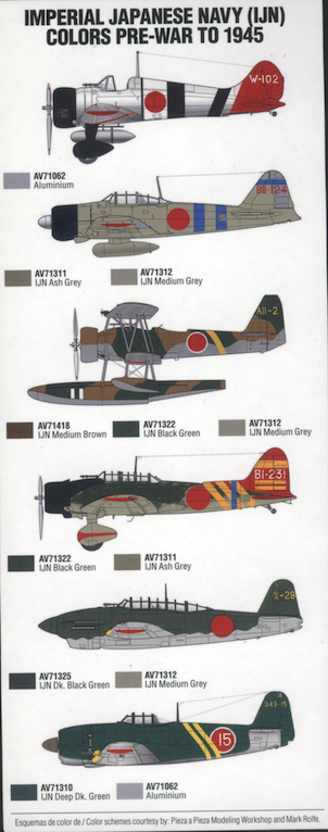 Aviation of Japan 日本の航空史: Vallejo IJN Colors Set ~ A