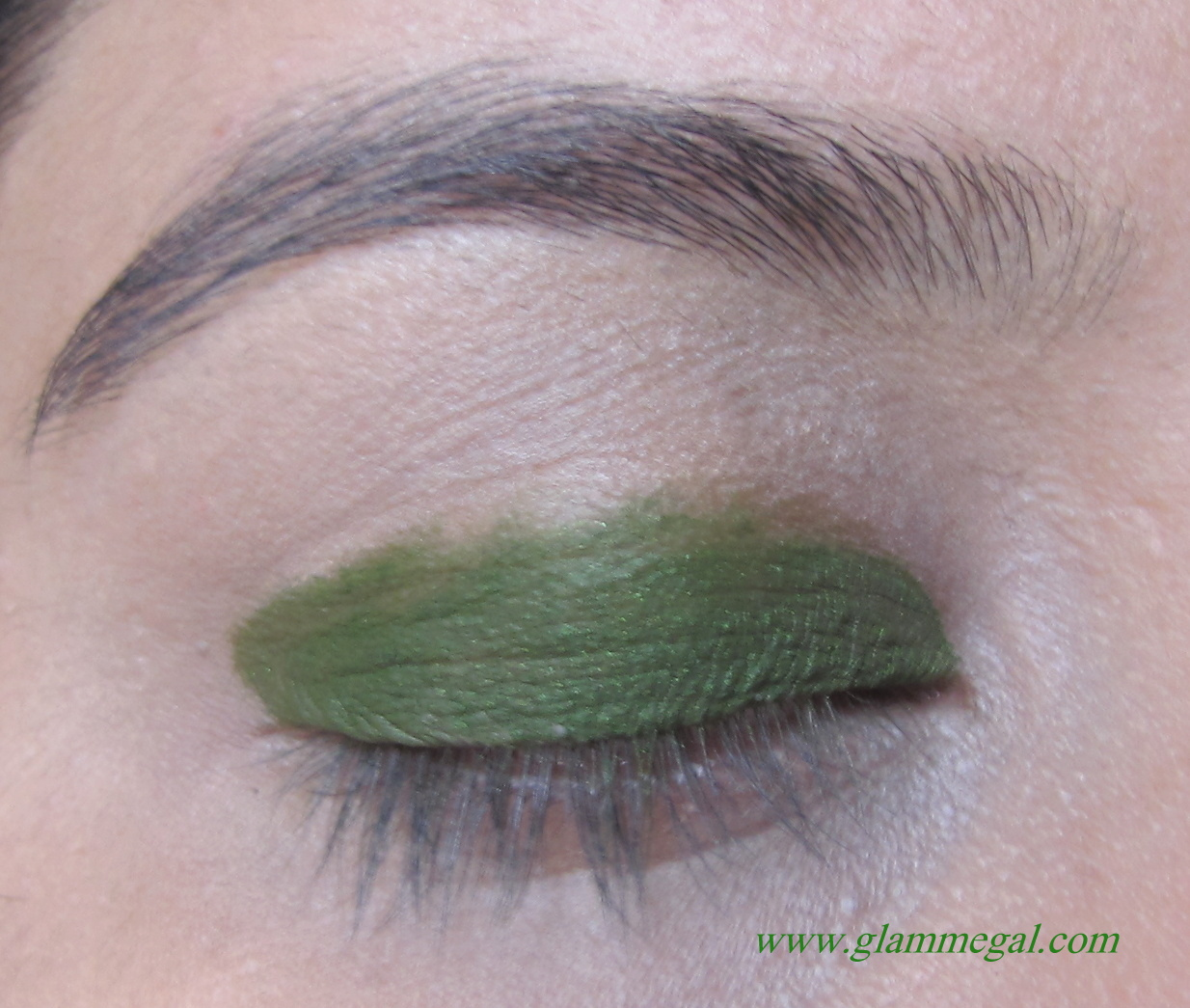 glam me gal: go green even on the eyes lotd using green