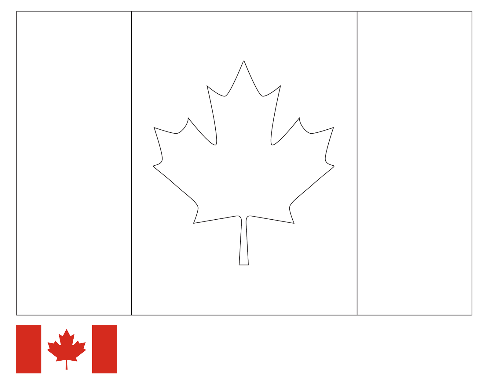 Coloring Page Flag Of Canada Drawing Outline Vectors Free Download Printable