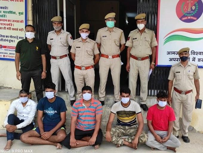 Crime News-हरियाणा नंबर की कार में बैठे सन्दिग्ध युवकों से 51 हजार की भारतीय जाली मुद्रा जब्त, 5 अभियुक्त गिरफ्तार