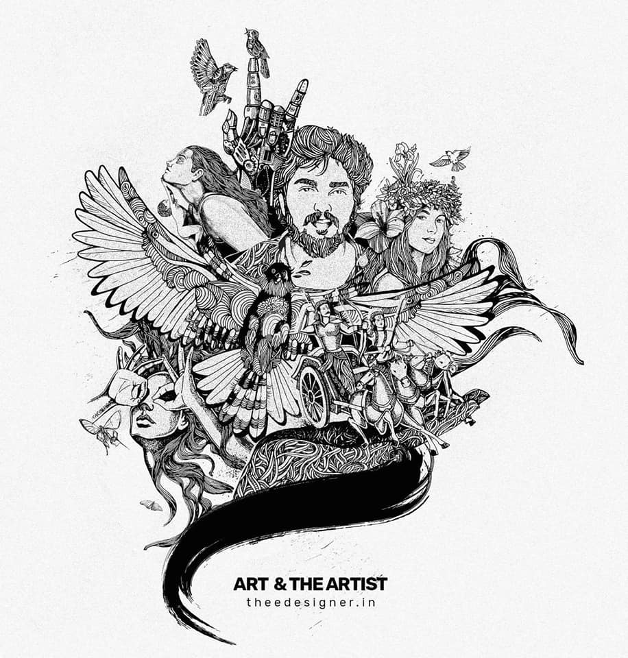 art and the artist  - doodle art by sijin gopinathan