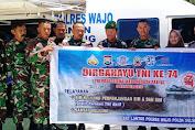 HUT TNI Ke 74, Sat Lantas Polres Wajo Memberikan Pelayanan Sim Gratis Kepada Personil Kodim 1406 Wajo