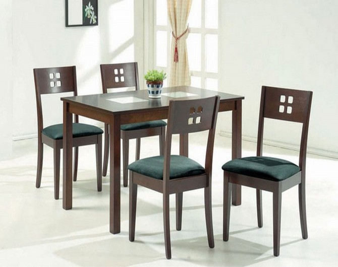 kitchen table and chairs glass