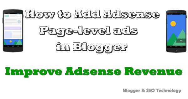 how to add page level ads in blogger