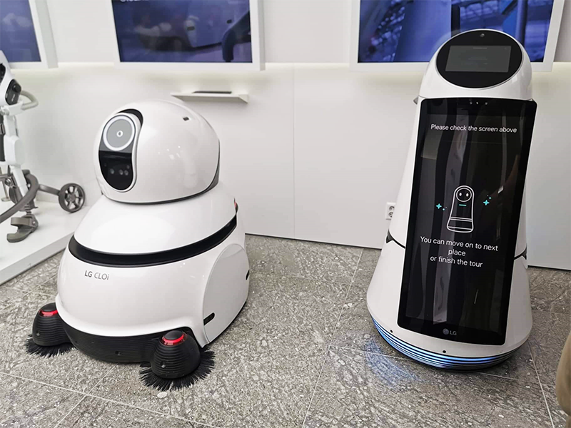 LG CLOi CleanBot and CLOi GuideBot