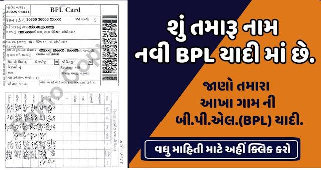 New BPL Yadi Gujarat 2019-20