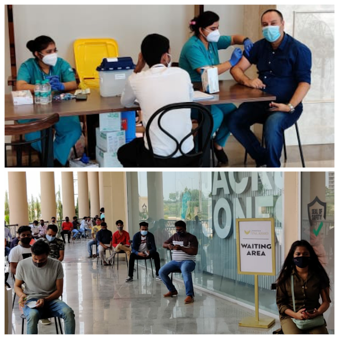 फीनिक्स पलासियो मॉल में कार्यरत कर्मचारियों और रिटेलर्स ने लगवाई वैक्सीन