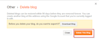 how to permanently delete blog on blogger
