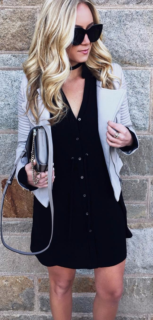 how to wear a black dress to the office