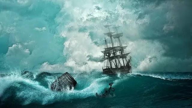 Ship in bermuda triangle