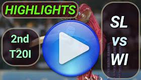 SL vs WI 2nd T20I 2020