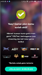 cara mendapatkan gratis paketan game online 1 gb perhari untuk kartu axis