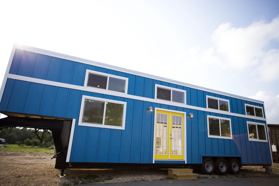 Nomad Homes nomad homes A Bright Blue Tiny House By Nomad Tiny Homes