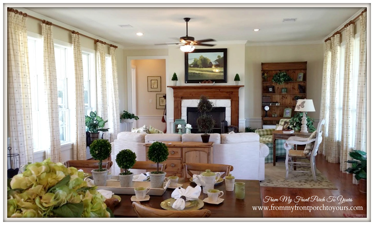 Home Builder Floor Plans From My Front Porch To Yours Farmhouse Model Home Tour