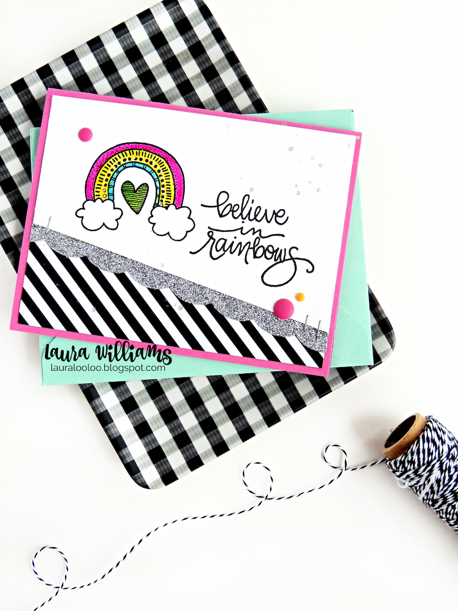 Visit my blog to see ideas with the sweet rainbow themed stamps from Impression Obsession. They're perfect for handmade cards that are bright and cheery!