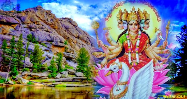 Gayatri Goddess 4K UHD Wallpaper, Gayatri Mata Hd Images, Wallpaper, Pictures, Photos