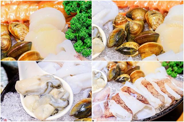collage2 - 熱血採訪│海大蛤味噌湯,整碗的用料非常大方!台中當月壽星鮭魚三重奏免費吃!