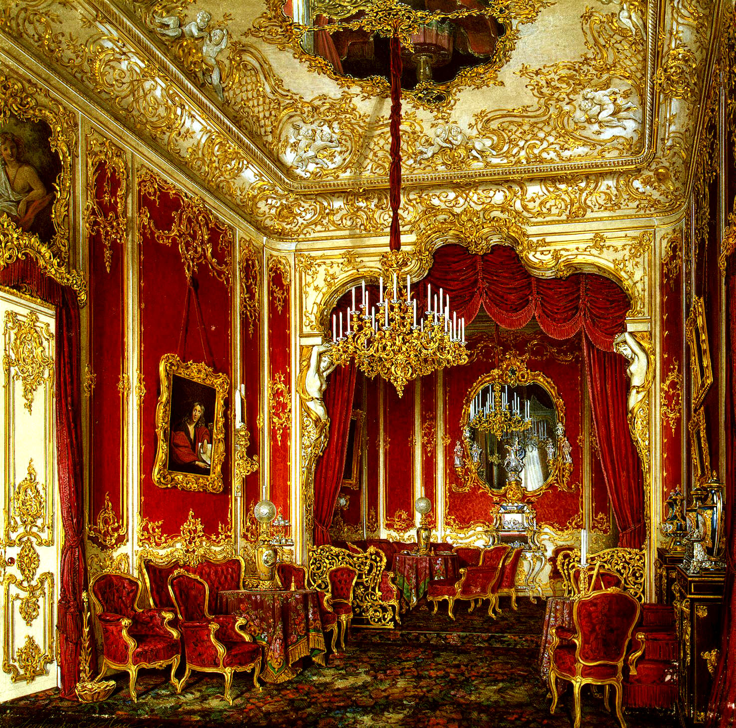 Winter palace research empress marie s for Muebles elegantes